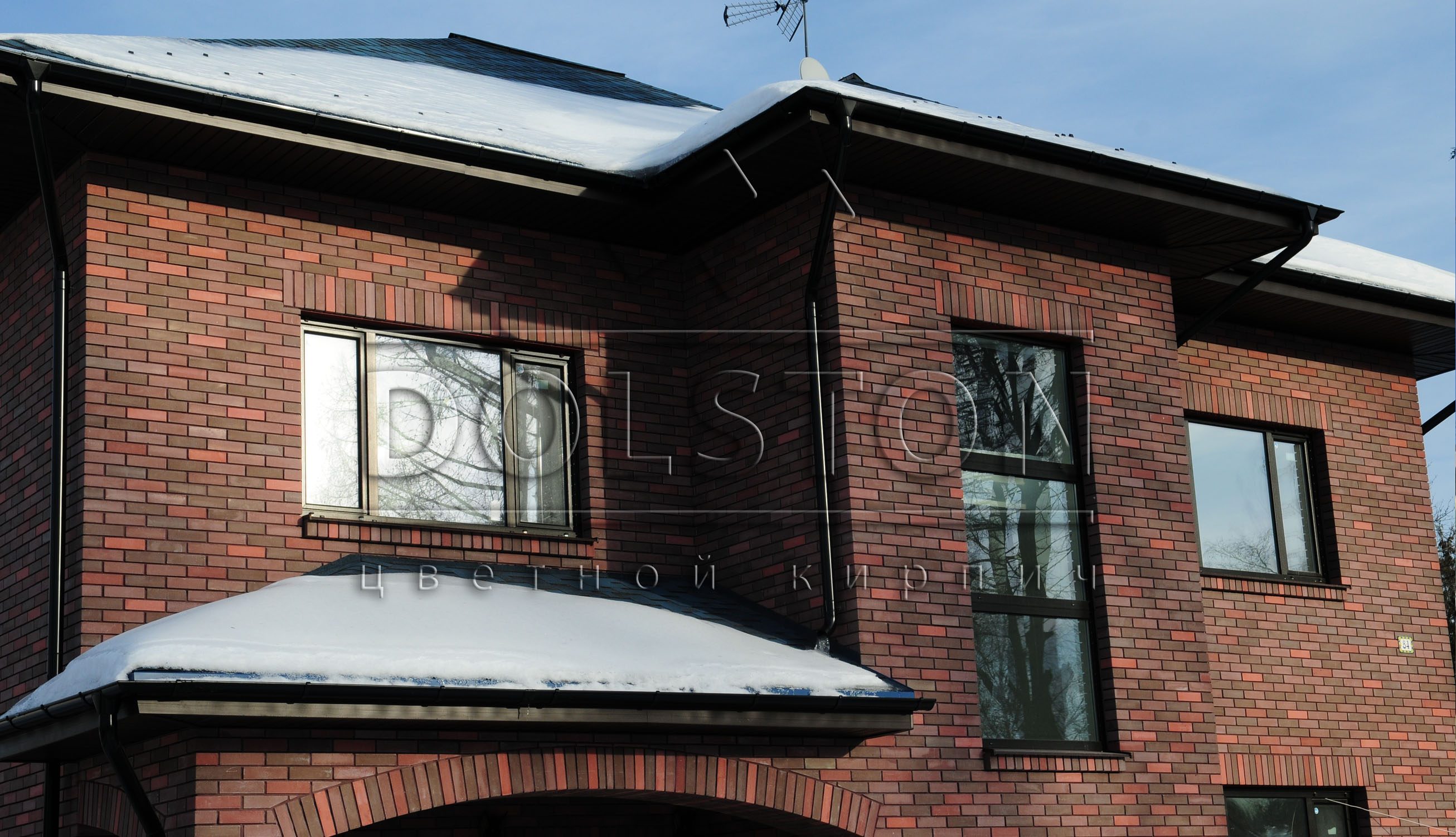 Кирпичный дом облицовочного кирпича TURMALIN SMOOTH